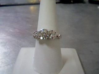 Lady's Diamond Cluster Ring 19 Diamonds .97 Carat T.W. 10K White Gold 4.3g