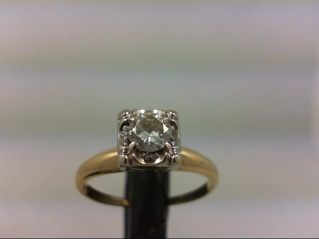 Lady's Diamond Engagement Ring 4 Diamonds .38 Carat T.W. 14K Yellow Gold 2.6g