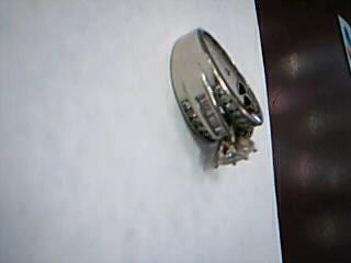 Lady's Diamond Engagement Ring 36 Diamonds 1.08 Carat T.W. 14K White Gold 7.8g