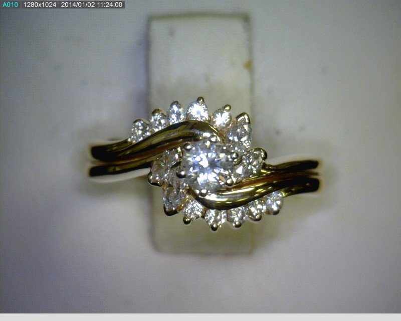Lady's Diamond Wedding Set 17 Diamonds .36 Carat T.W. 14K Yellow Gold 2.3dwt