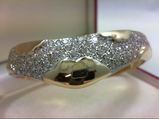 Gold-Diamond Bracelet 106 Diamonds 5.00 Carat T.W. 14K Yellow Gold 50.41g