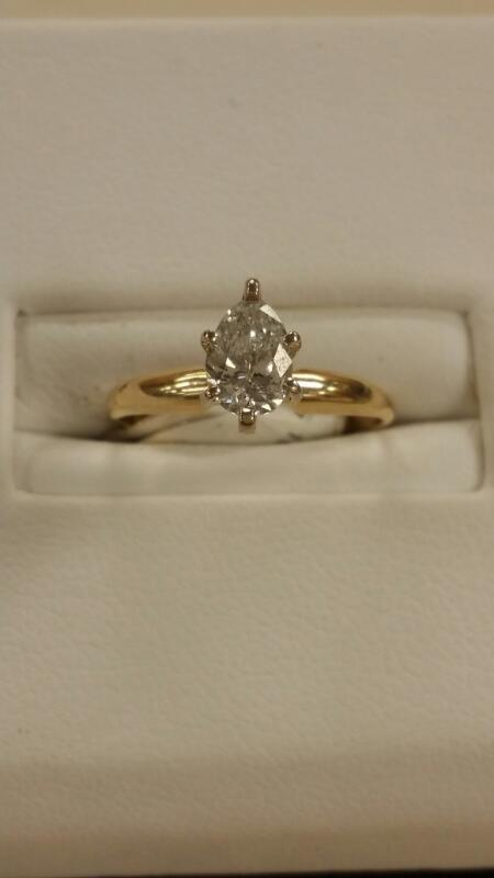 Lady's Diamond Solitaire Ring .60 CT. 14K Yellow Gold 1dwt