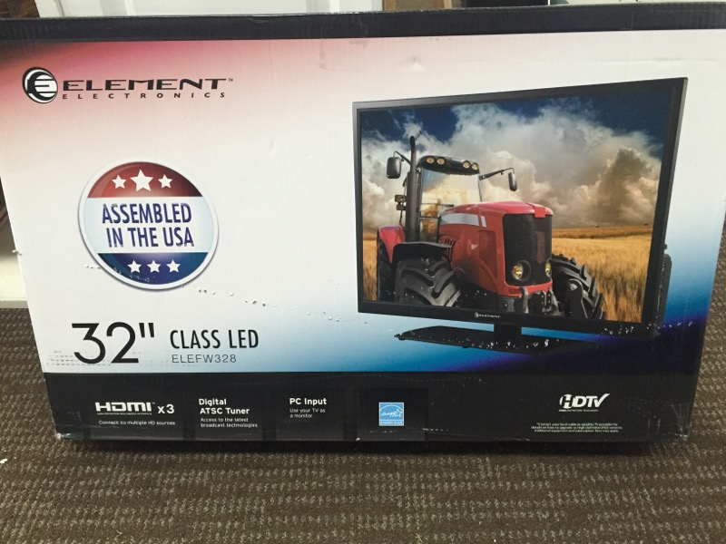 "ELEMENT ELECTRONICS 32"" 720P FLAT PANEL TV"