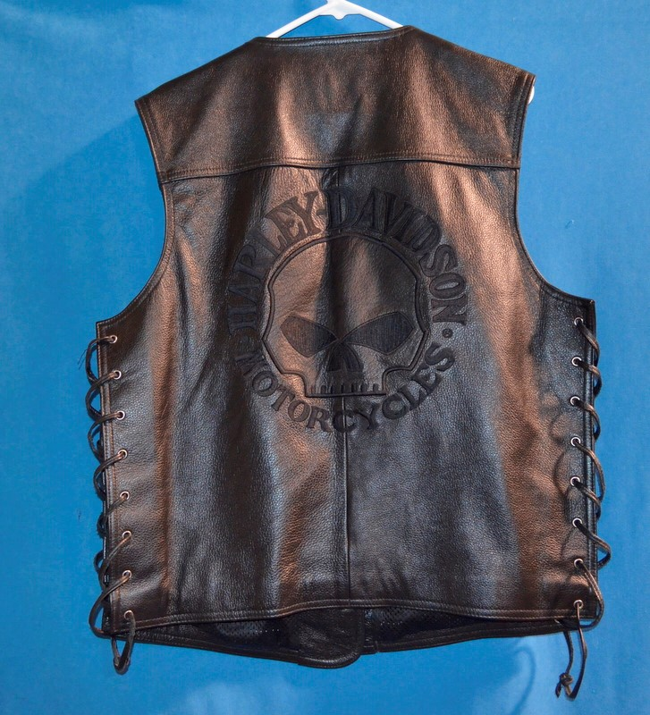 HARLEY DAVIDSON Coat/Jacket MENS LEATHER VEST