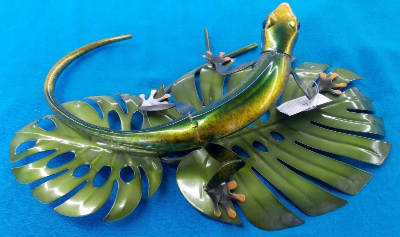 MISC COLLECTIBLES NEW MISC NEW MISC GREEN TREE PRODUCTS 96025; GECKO ON LEAVES H