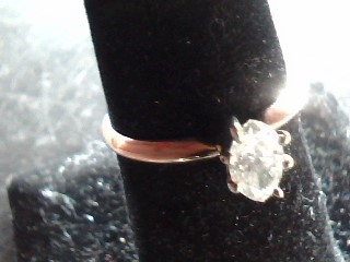 Lady's Diamond Solitaire Ring .30 CT. 14K Yellow Gold 1.3dwt