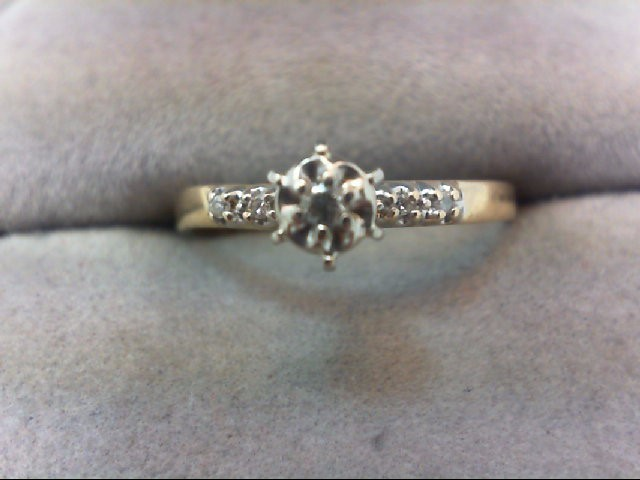 Lady's Diamond Engagement Ring 5 Diamonds .06 Carat T.W. 14K Yellow Gold 1.4g