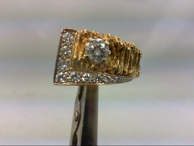 Lady's Diamond Cluster Ring 10 Diamonds 1.00 Carat T.W. 18K Yellow Gold 12.93g