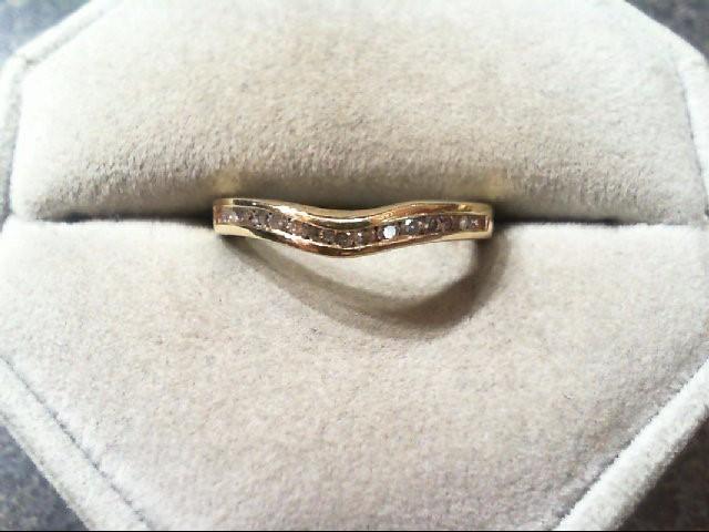 Lady's Diamond Wedding Band 15 Diamonds .30 Carat T.W. 14K Yellow Gold 2.4g
