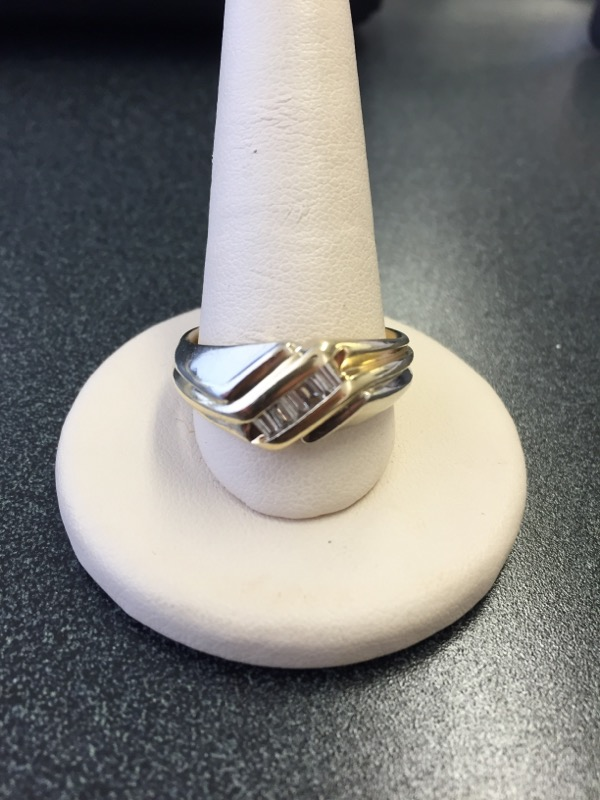 Gent's Gold-Diamond Wedding Band 6 Diamonds .30 Carat T.W. 14K Yellow Gold