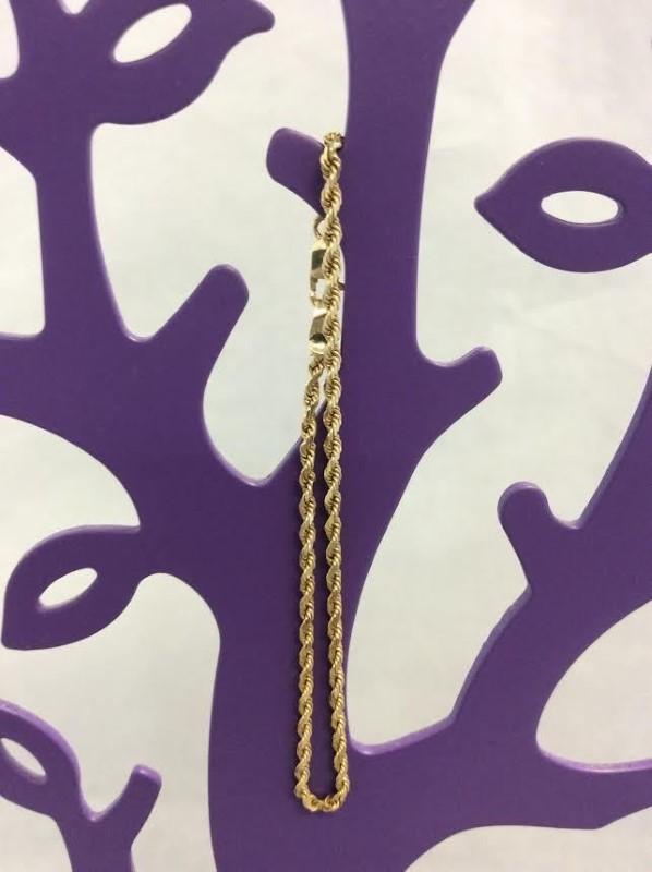 Gold Rope Bracelet 14K Yellow Gold 2.71g