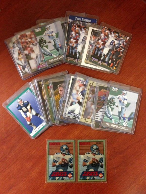 TROY AIKMAN (DALLAS COWBOYS HALL OF FAME) CARD LOT!
