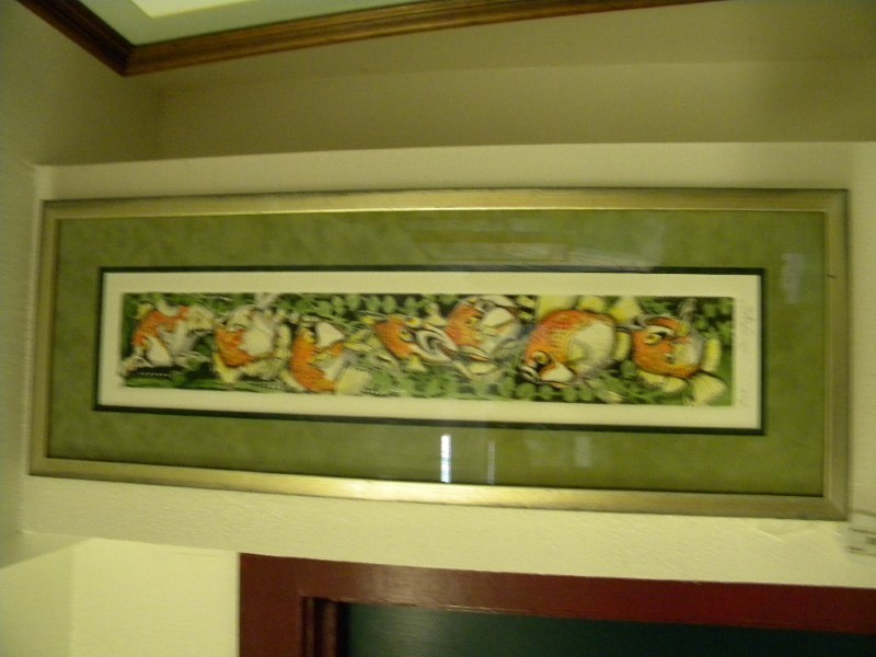 FISH EXPIETIONS BY ARTIST SALMON, SIGNED AND # 1522/2400