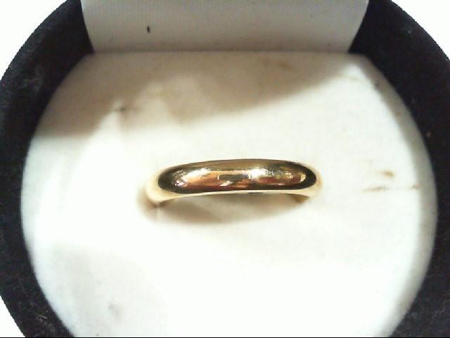 Lady's Gold Wedding Band 14K Yellow Gold 4.5g