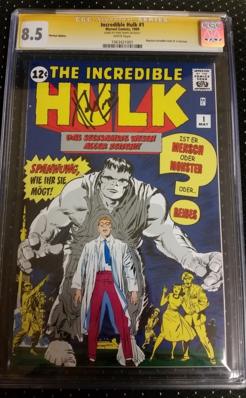Incredible Hulk #1 Reprint 1999 German Edition CGS Signature 8.5 Trimpe