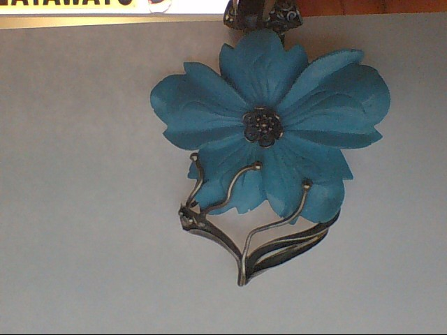Synthetic Turquoise Silver-Stone Pendant 925 Silver 74.5g