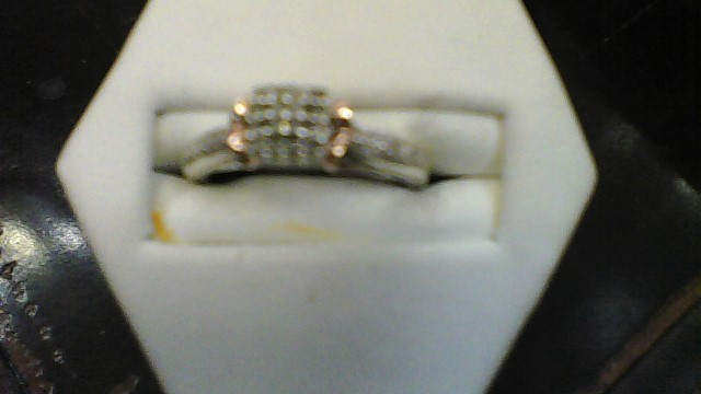 Lady's Silver-Diamond Ring 20 Diamonds .20 Carat T.W. 925 Silver 2.92g