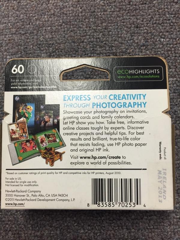 HEWLETT PACKARD 60 INK COMBO PACK