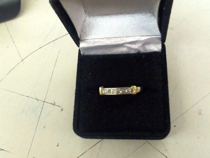 Lady's Diamond Wedding Band 7 Diamonds .35 Carat T.W. 14K White Gold 3g