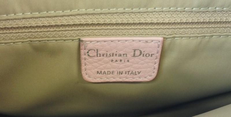 CHRISTIAN DIOR CANVAS PINK/BROWN SATCHEL SHOULDER BAG