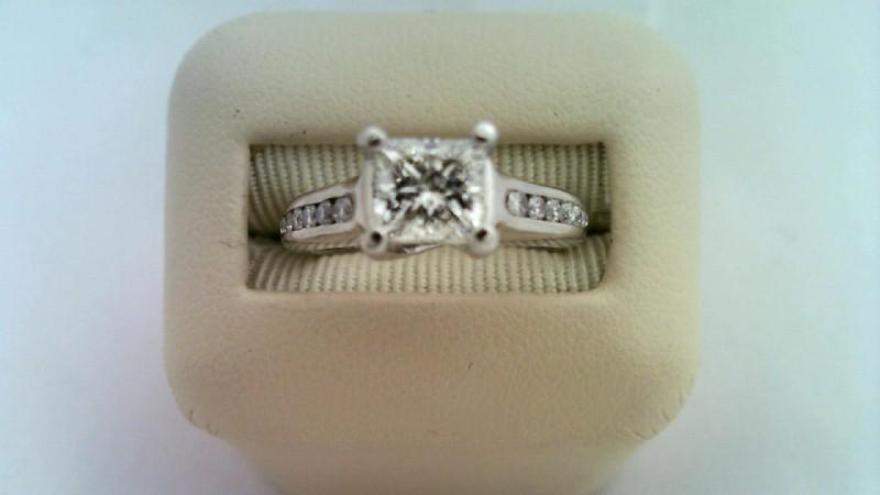 DIAMOND Lady's Diamond Engagement Ring 13 Diamonds .84 Carat T.W.