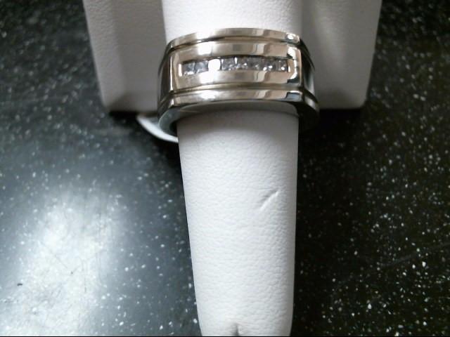 Gent's Diamond Fashion Ring 8 Diamonds .48 Carat T.W. 14K White Gold 14.4g