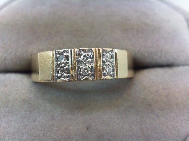 Lady's Diamond Wedding Band 6 Diamonds .12 Carat T.W. 14K Yellow Gold 5g