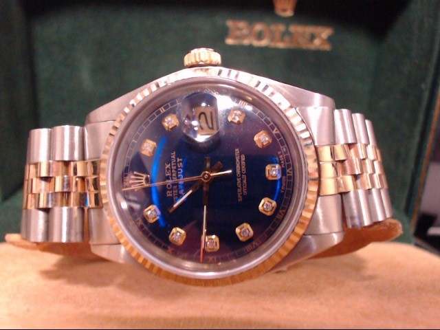 ROLEX Gent's Wristwatch 1603 GOLD STAINLESS OYSTER DATE-JUST