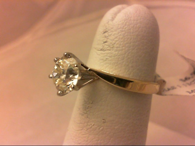 Lady's Diamond Engagement Ring 1.13 CT. 14K Yellow Gold 2.6g