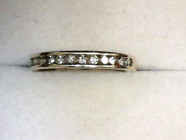 Lady's Diamond Wedding Band 12 Diamonds .36 Carat T.W. 14K Yellow Gold 1.7dwt