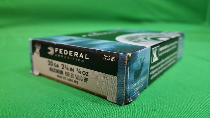 FEDERAL AMMUNITION Ammunition MAXIMUM RIFLED SLUG