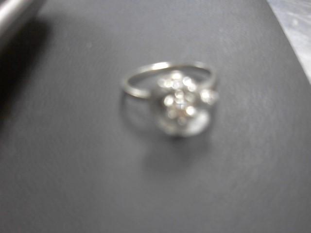 Lady's Diamond Fashion Ring 5 Diamonds .27 Carat T.W. 14K White Gold 4.2g