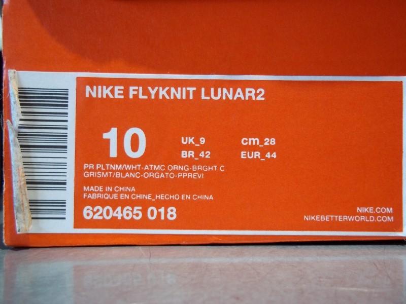 NIKE FLYKNIT LUNAR2 SIZE 10 MENS