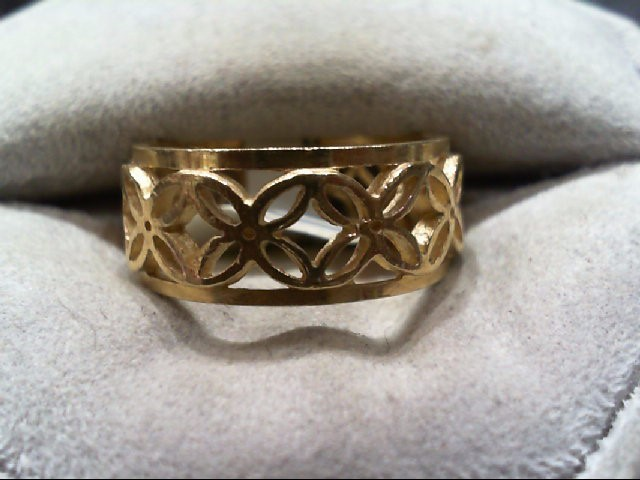 Lady's Gold Wedding Band 14K Yellow Gold 4.3g Size:6.5