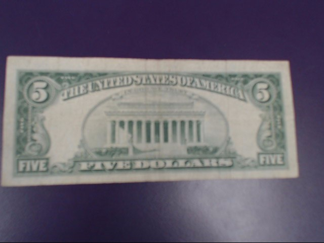 UNITED STATES Paper Money - World $5 RED SEAL 1963 SERIES