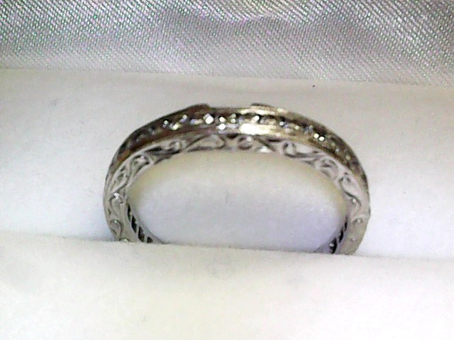 Lady's Diamond Wedding Band 30 Diamonds .60 Carat T.W. 14K White Gold 1.7dwt
