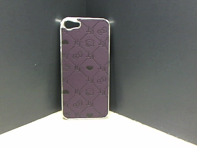 APPLE Cell Phone Accessory KITTY CAT HARD COVER FOR IPHONE 5 & 5S PURPLE