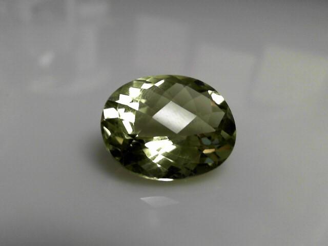 25.74cts Light Topaz Oval Cut Stone