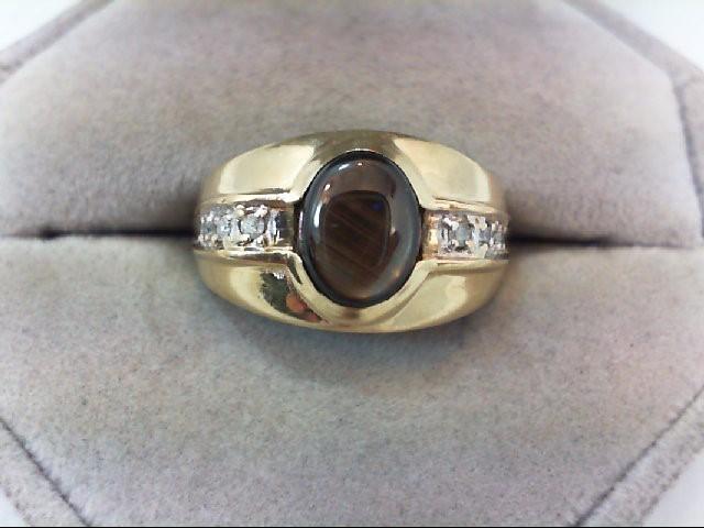 Gent's Diamond Fashion Ring 6 Diamonds .06 Carat T.W. 10K Yellow Gold 4.3g