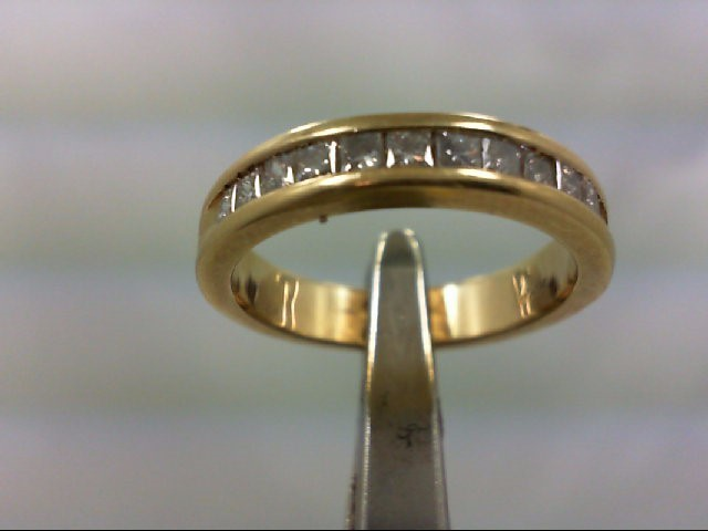 Lady's Diamond Wedding Band 12 Diamonds .84 Carat T.W. 14K Yellow Gold 4.5g