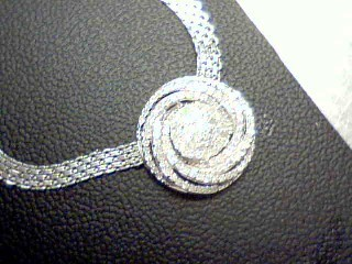 Diamond Necklace 110 Diamonds 1.10 Carat T.W. 925 Silver 13.8g
