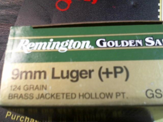 REMINGTON Ammunition GOLDEN SABER HPJ 9MM LUGER +P 25 ROUNDS