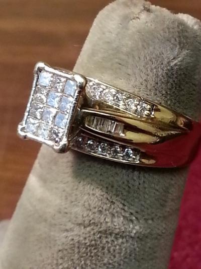 Lady's Diamond Fashion Ring 42 Diamonds .54 Carat T.W. 10K Yellow Gold 3.3dwt