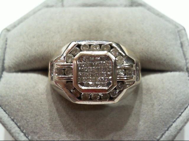 Lady's Diamond Wedding Band 74 Diamonds 1.06 Carat T.W. 14K White Gold 11.9g