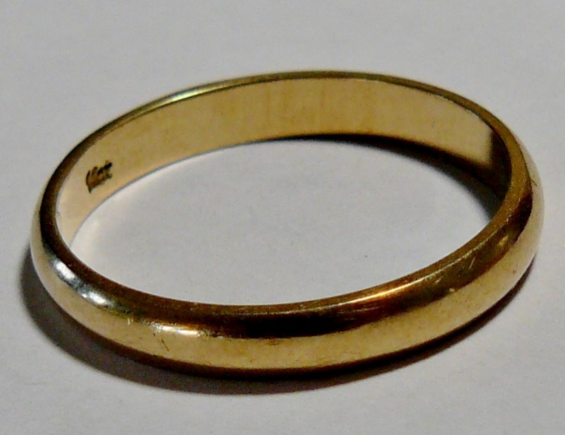 Gent's Gold Wedding Band 14K Yellow Gold 2.1dwt Size:10