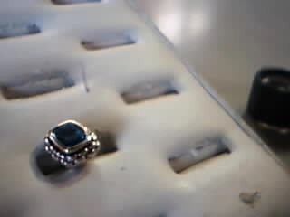 Blue Stone Gold-Stone Pendant 18K Yellow Gold 4.5g