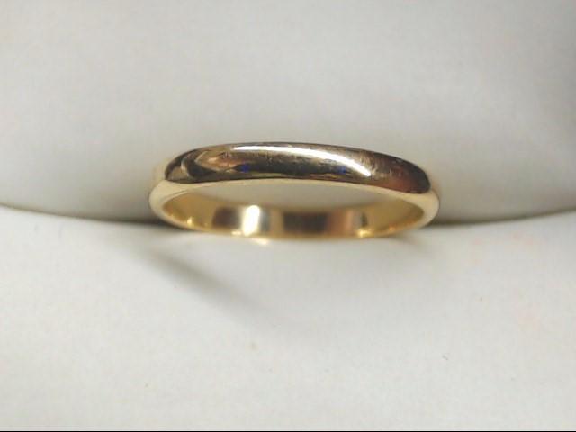 Lady's Gold Wedding Band 10K Yellow Gold 1g Size:3