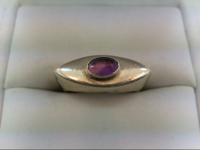 Amethyst Lady's Silver & Stone Ring 925 Silver 5.3g