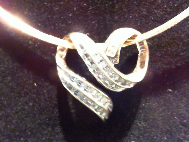 Gold-Multi-Diamond Pendant 34 Diamonds .34 Carat T.W. 10K Yellow Gold 6.4g