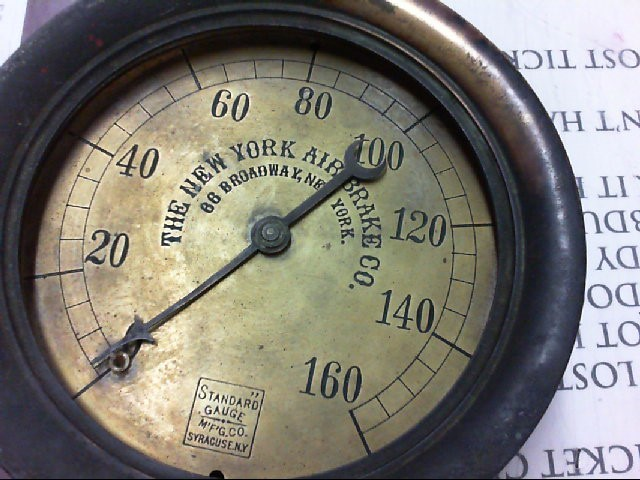 NEW YORK CO AIR GAUGE